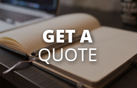 get a quote icon with an open notepad and pen