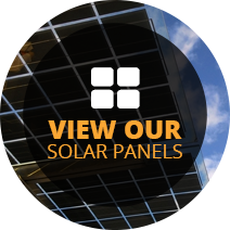 view our solar panels icon with solar panels and clouds in the background